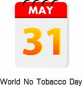Calender 31 May World No Tobacco Day