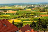 Colorful spring landscape in Odenwald, Hessen, Germany
