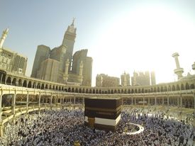 pic of kaaba  - Muslim people praying at Kaaba in Mecca - JPG