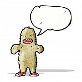 picture of big-foot  - cartoon big foot - JPG