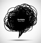 Scribble black bubble