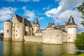 Moat With Chateau Of Sully Sur Loire