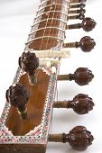 Sitar, A String Indian Traditional Instrument, Close-up