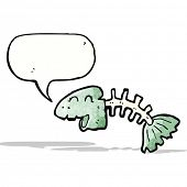talking fish bones cartoon