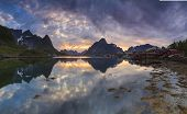 View Over Reine Village, Norway