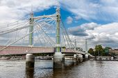 Albert Bridge In Chelsea, London