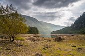Low Water At Thirlmere With Helvellyn