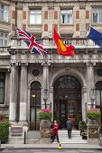 LONDON, UK - JULY 3, 2014: Mandarin Oriental hotel near Harrods, Knightsbridge
