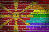 Dark Brick Wall - Lgbt Rights - Macedonia