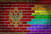 Dark Brick Wall - Lgbt Rights - Montenegro