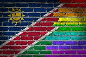 Dark Brick Wall - Lgbt Rights - Namibia