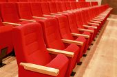 Red And Empty Theater Seats
