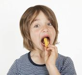 Boy With Peanut Flips In The Mouth