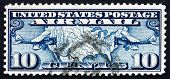 Postage Stamp Usa 1926 Map Of U.s. And Two Mail Planes