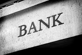 Old Fashioned Bank Sign