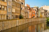 pic of costa blanca  - Old town buildings alongside a canal Orihuela Costa Blanca - JPG