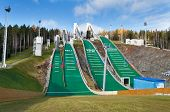 Springboard Complex On Mount Long In Nizhny Tagil. Russia