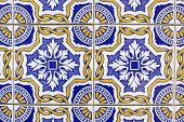 Old Traditional Portuguese Azulejo Tiles