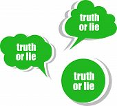 Truth Or Lie. Set Of Stickers, Labels, Tags. Template For Infographics