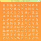Travel Line Icons For Web And Mobile.