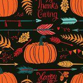 Happy Thanksgiving Dark Background