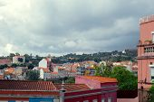 Cityscape Of Colorful Rooftops In The City