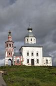 Church of Elijah Prophet at Ivanova grief in bend of Kamenka River. Suzdal, Golden Ring of Russia.