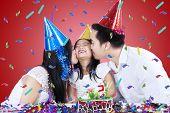 Asian Family Celebrate Birthday