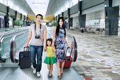 Asian Tourist Arrive In Airport