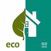 Eco House Vector. EPS 10.