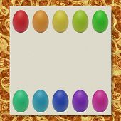 Easter Eggs Writing Paper Marble Texture Background