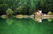Chalet on the shore of a lake
