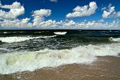 Baltic Sea And Cumulus Clouds