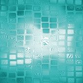 Azure Square Shape Abstract Background.