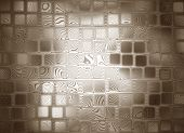 Abstract Square Shape Hypnosis Background.