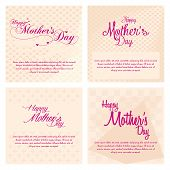 a set of light yellow backgrounds with pink text for mother's day