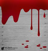 Happy Halloween design banners. Blood dripping, blood background. Vector illustration.