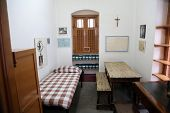 KOLKATA,INDIA - FEBRUARY 07: The former room of Mother Teresa at Mother House in Kolkata, West Bengal, India on February 07,2014.