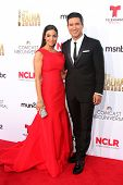 LOS ANGELES - OCT 10:  Courtney Laine Mazza, Mario Lopez at the 2014 NCLR ALMA Awards Arrivals at Civic Auditorium on October 10, 2014 in Pasadena, CA