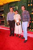 LOS ANGELES - OCT 11:  Tony Goldwyn, Rashida Jones, Scott Foley at the Fifth-Annual Veuve Clicquot Polo Classic at Will Rogers State Historic Park on October 11, 2014 in Pacific Palisades, CA