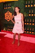 LOS ANGELES - OCT 11:  Rosario Dawson at the Fifth-Annual Veuve Clicquot Polo Classic at Will Rogers State Historic Park on October 11, 2014 in Pacific Palisades, CA