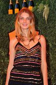 LOS ANGELES - OCT 11:  Angela Lindvall at the Fifth-Annual Veuve Clicquot Polo Classic at Will Rogers State Historic Park on October 11, 2014 in Pacific Palisades, CA