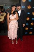 LOS ANGELES - OCT 12:  Zoe Saldana, Marco Perego at the