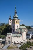 stock photo of banska  - Castle tower in town of Banska Bystrica - JPG