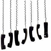Set Of Black Phone Receiver