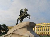 The Bronze Horseman monument of Peter the Great in Saint Petersburg