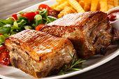 foto of ribs  - Grilled pork ribs - JPG