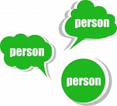 Person. Set Of Stickers, Labels, Tags. Template For Infographics