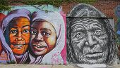 Mural art in Astoria section in Queens