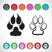 Vector Image Of Paw Print